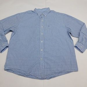 IZOD 2XL Blue Button Down Shirt  Cotton